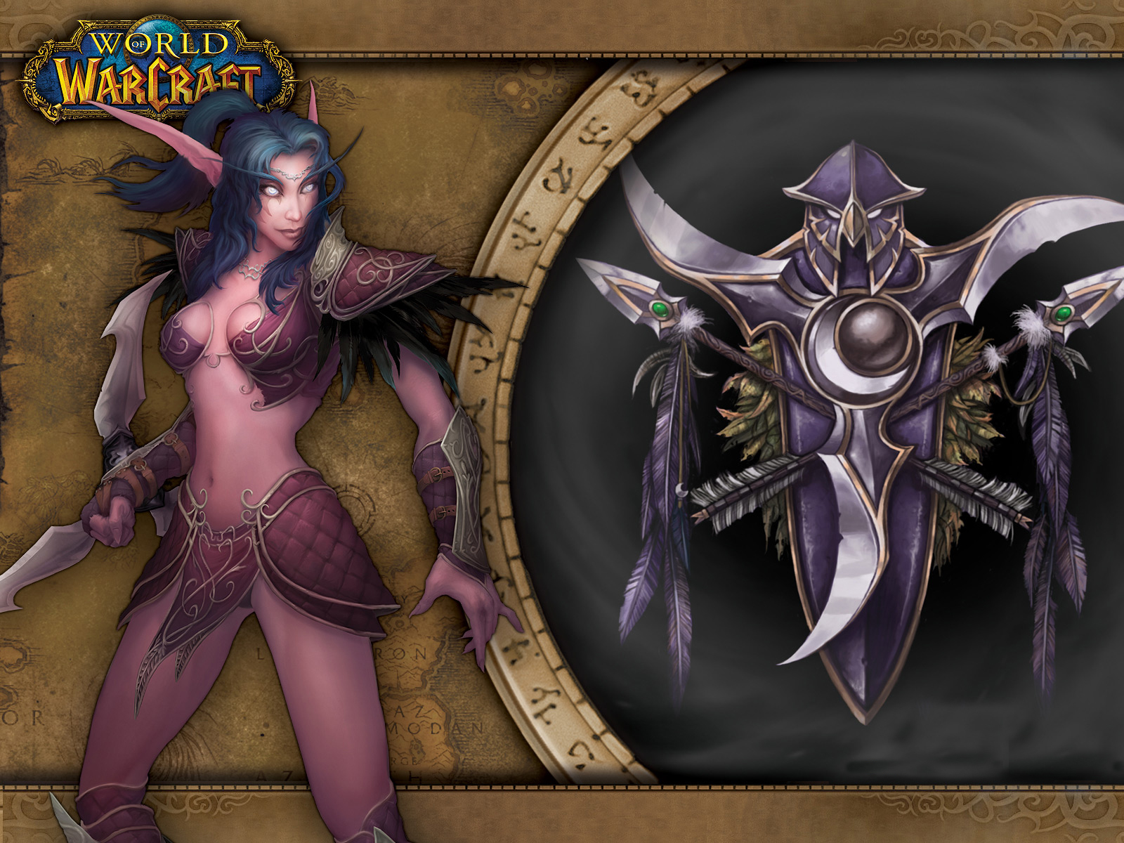 World of warcraft night elf s enormous  naked comic